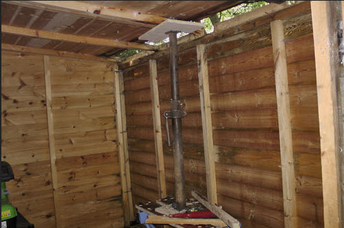 repairing a shed roof