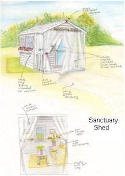 beautiful shed
