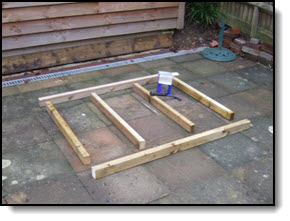 How to build a shed base for your factory supplied shed for How to square a building foundation