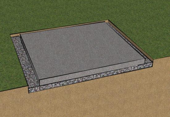 concrete-shed base