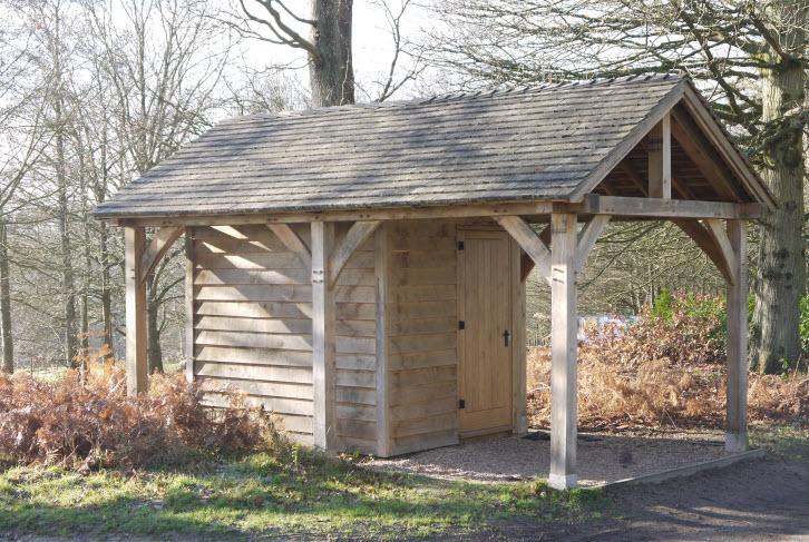 oak framed shed