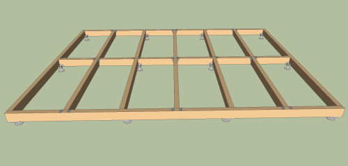 adjustable shed base