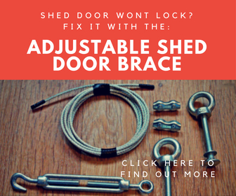 adjustable shed door brace