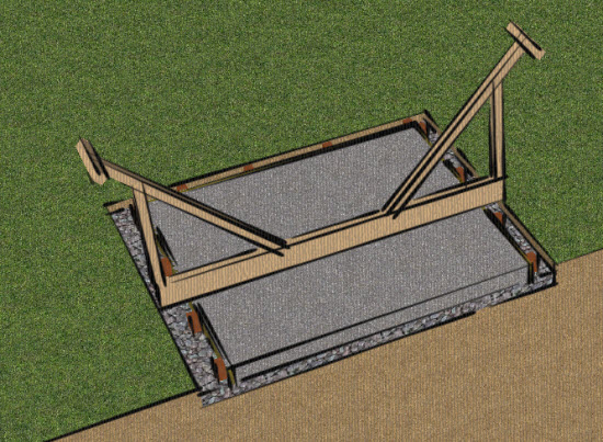 concrete-shed base