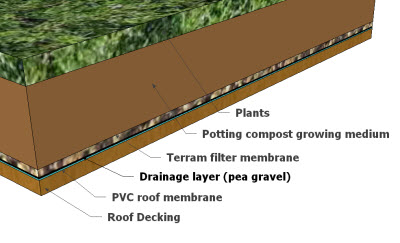 green shed roof