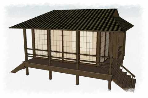 Shed wall ideas how to build a shed from pallets for Japanese style garden buildings