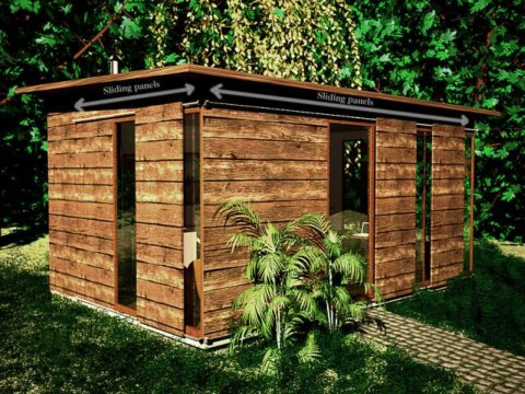 Shed building monthly dec 2009 for Garden office design