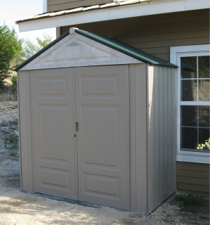 Vertical Outdoor Storage Shed, Rubbermaid 3746 Deep Large Vertical