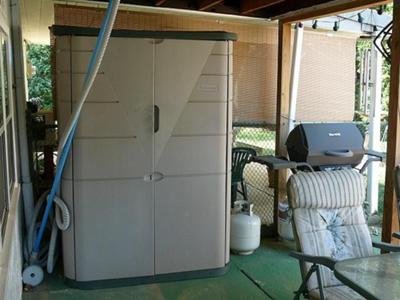 Great for indoor and outdoor use! & A collection of reviews of the Rubbermaid vertical storage shed