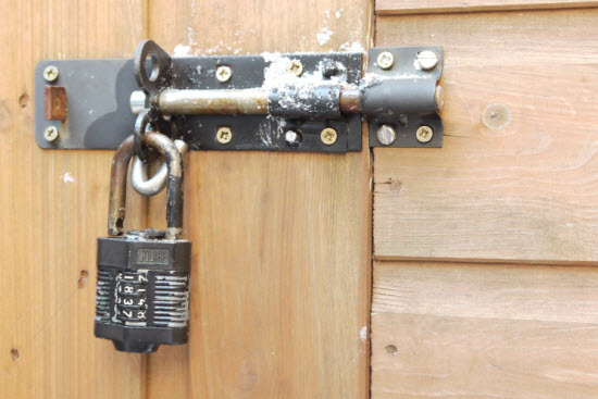 sagging shed door