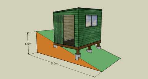 How to build a shed on unlevel ground for House foundation on slope