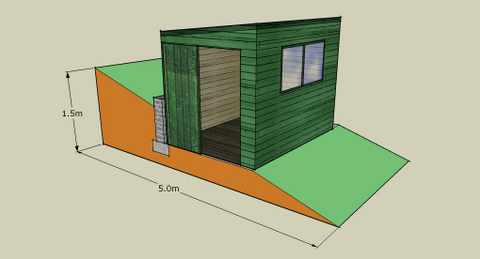 A Shed On Unlevel Ground Heres Some Help