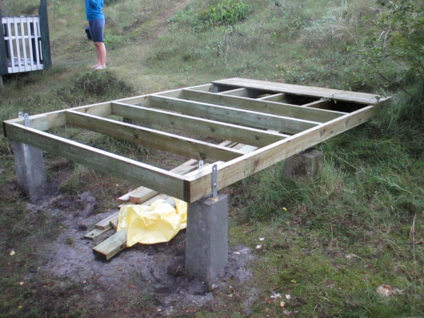 Shed pier foundation