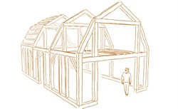 Wood shed designs codes and cryptography nomis for Prefab gambrel roof trusses