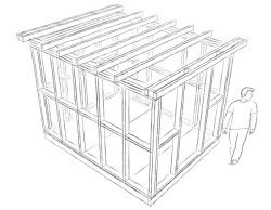 pent shed roof frame
