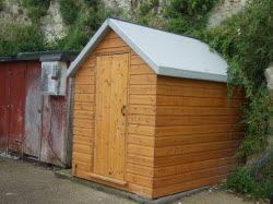 Fibreglass Is Not Commonly Used As A Shed Roofing Material. I Only Mention  It As I Came Across This Example On A Fishermanu0027s Hut On A Dorset Beach.