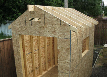 Overcoming shed building problems for Building a shed style roof