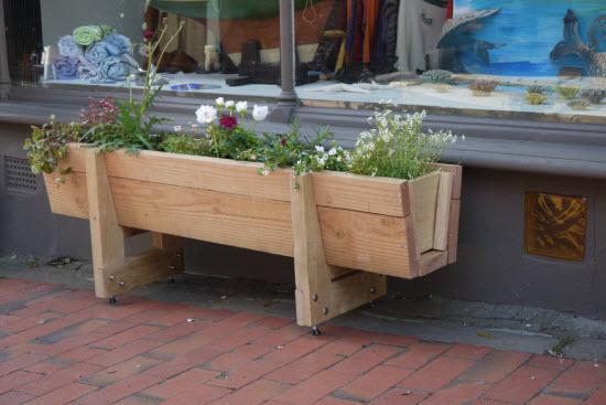 bespoke wooden planter