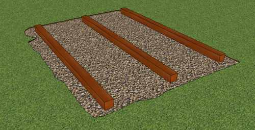 Garden shed foundation kit