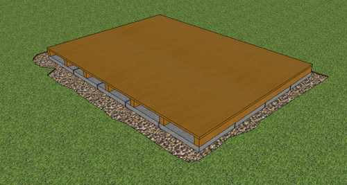How To Build A Storage Shed Foundation On Paving Slabs