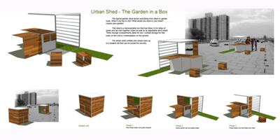 urban shed garden in a box