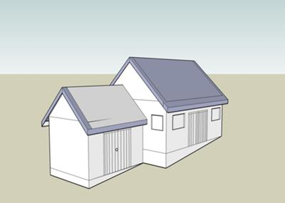 Shed idea  1 (drawn with Google SketchUp)