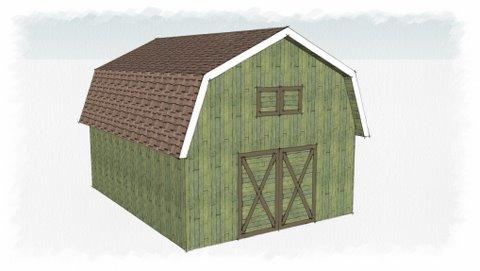 gambrel shed