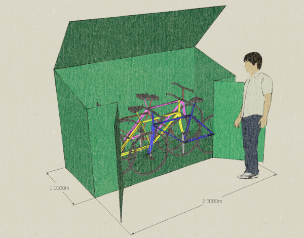 bicycle storage shed