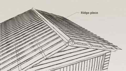 shed roof ridge piece