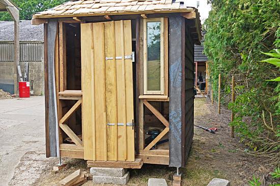 hanging a shed door