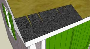 Installing Roof Shingles Is A Great Way To Make Your Shed Waterproof