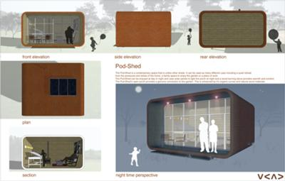 Pod-Shed - Organic Space for Organic Landscape