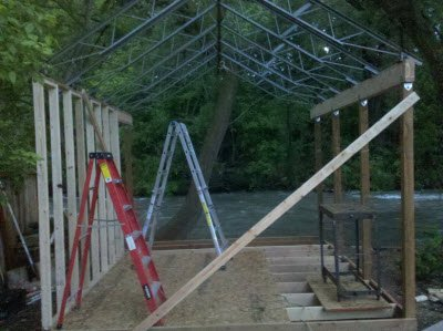 shed roof structure