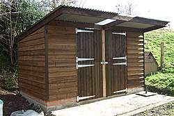 pent shed roof design