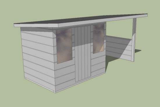 shed roof overhang