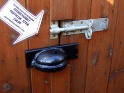 shed door lock