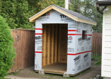 shed with house wrap